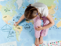 Ребенок на карте