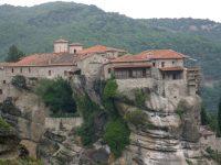 Монастырь в Греции Метеоры